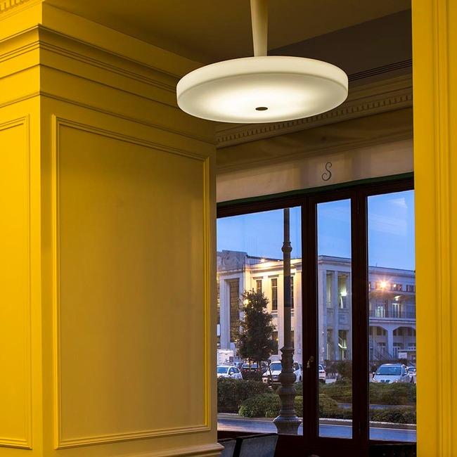 Equilibre Semi Flush Ceiling Light  by Prandina USA