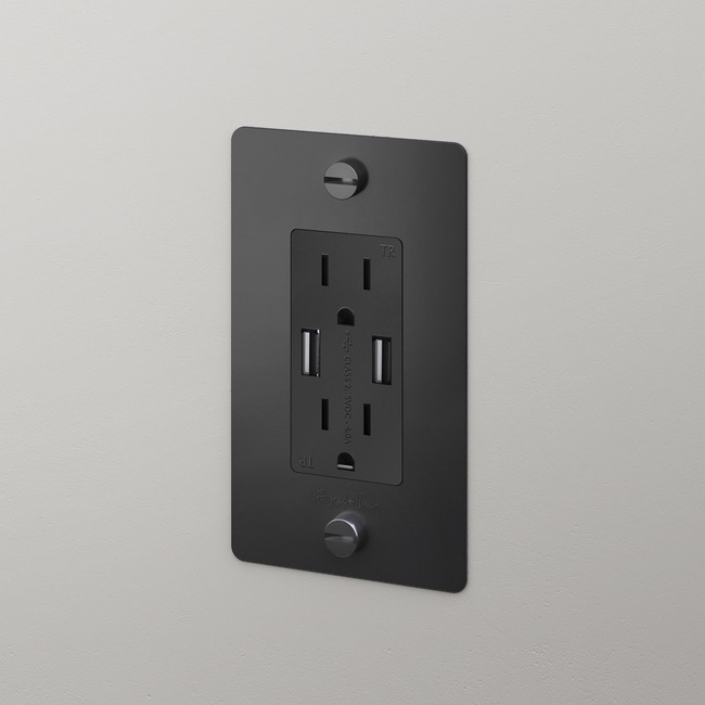 Buster + Punch Complete USB Duplex Outlet  by Buster + Punch