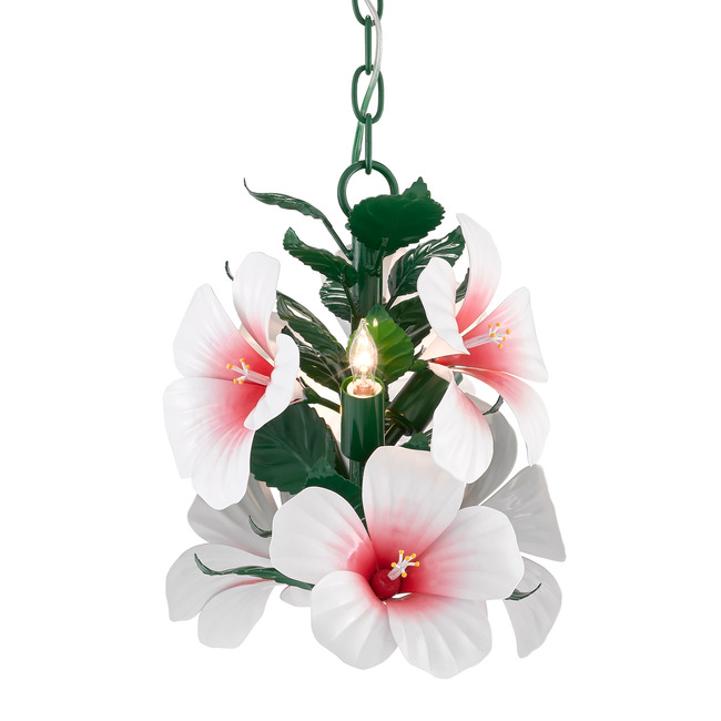 Hibiscus Mini Pendant  by Currey and Company