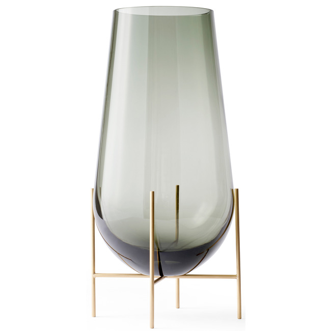 Echasse Vase with Smoke Glass  by MENU