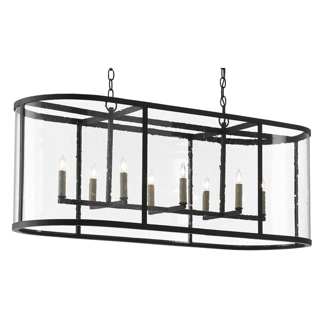 Argand Linear Chandelier  by Currey and Company