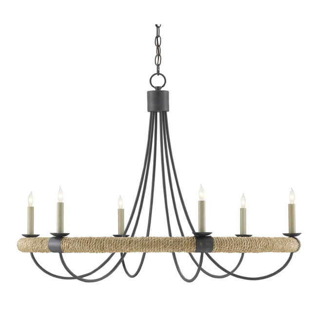 Shipwright Chandelier  by Currey and Company