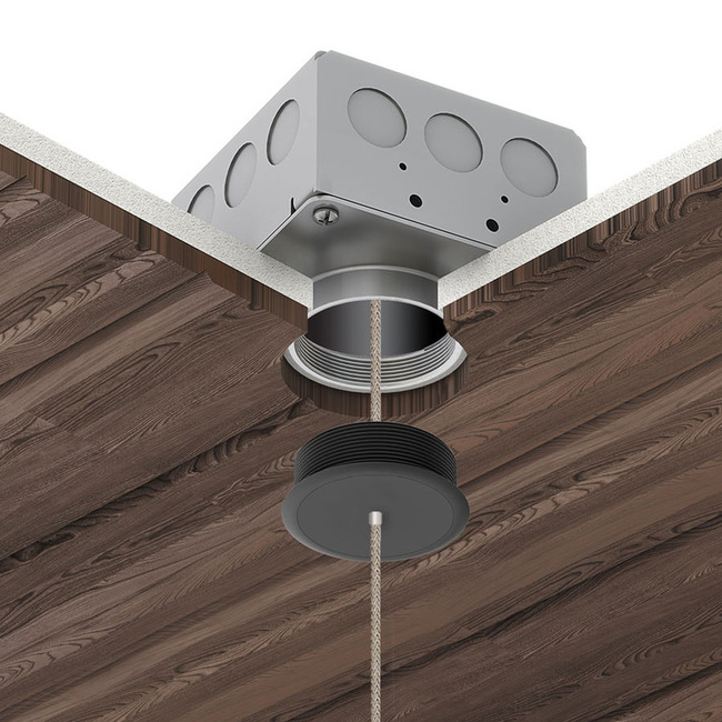 Vanishing Point Fast Jack Pendant System with Power Millwork  by PureEdge Lighting