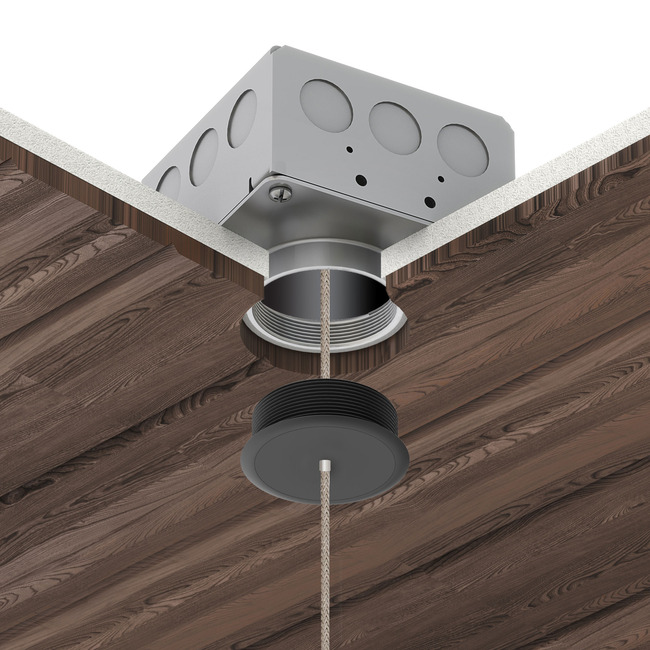 Vanishing Point 24VDC Ceiling Connection System with Power  by PureEdge Lighting