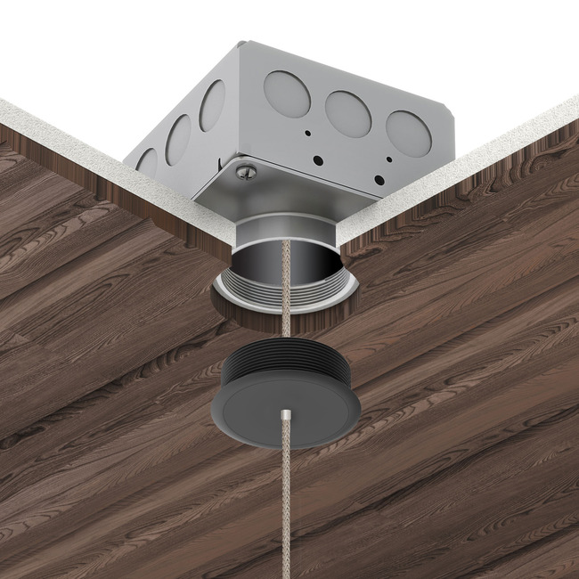 Vanishing Point 24VDC Ceiling Connection System Remote Power  by PureEdge Lighting