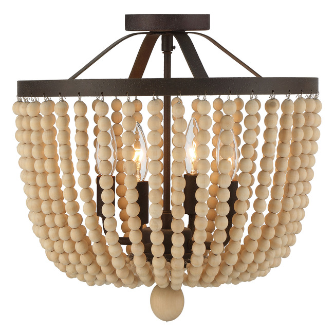 Rylee Semi Flush Ceiling Light  by Crystorama