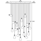 Bright Idea 17 Light Linear Suspension -  /
