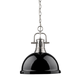 Duncan Chain Pendant - Pewter / Black /