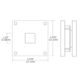 4X4 Wall / Ceiling Mount -  /
