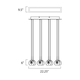 Starburst 8 Light Suspension  -  /