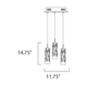 Scope 3-light LED Pendant -  /