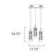 Scope 3-light LED Pendant -  /