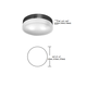 Mint Round Ceiling Flush Mount -  /