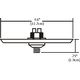 Fast Jack LED 4 Inch Square Canopy -  /