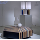 Parquetry Table Lamp - Wood / White