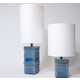 Tile Lamp - Blue Glazed Ceramic / White