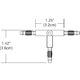 Monorail 2-Circuit T Conductive Connector -  /