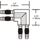 Monorail Wall L Conductive Connector  -  /