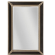 Kingsdale Mirror - Aged Sterling / Ebony Crackle /