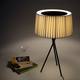 Tripode G6 Table Lamp - Black / Black