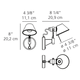 Tolomeo Micro Wall Spot with Switch -  /