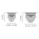 AVIR Tiered Semi Flush Ceiling Light -  /