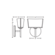 Groove Bath Bar with Round Canopy -  /