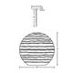 Wave Pendant CFL Plumen -  /