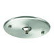 Oro Feathers Flush Round Canopy Pendant - Satin Nickel /