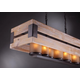 Cesto Rectangular Chandelier - Natural / Amber