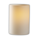 Modular Cylinder Flat Rim Limoges Wall Sconce - Antique Brass / Waterfall Porcelain