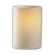 Aero Cylinder Flat Rim Fusion Wall Sconce - Polished Chrome / Opal