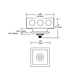 Fast Jack 2 Inch Square Canopy - Satin Nickel /