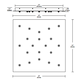 Fast Jack LED 24 Inch Square 20 Port Canopy -  /