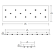 Fast Jack LED Linear 14 Port Canopy -  /