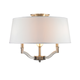 Waverly Semi Flush / Flush Mount - Antique Brass / Tuxedo /