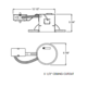 IC25R 5 Inch IC Shallow Remodel Housing -  /