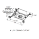 TC43N Aculux 3.25 In MR16 Non-IC New Construction Housing -  /