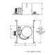 TC46 6 Inch PAR36 Low Voltage Non-IC Housing -  /