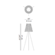 Knottee Floor Lamp - Gray / Dark Gray /