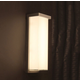 Ledge Outdoor Wall Sconce - Brushed Aluminum / Mitered