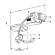 1000LVR Lytecaster 5 Inch MR16 Non-IC Remodel Frame-In Kit -  /