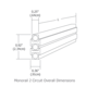 Monorail 2-Circuit Straight Rail -  /