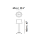 Double Shade Floor Lamp -  /
