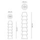 Set Up Shades 6 Floor Lamp -  /
