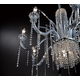 Nava Chandelier - Chrome / Ice Blue