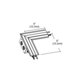 TruLine .5A L-Shaped Power Channel Connector  -  /