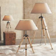 Transit Floor Lamp - Raw Pine / Taupe