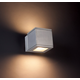 Rubix Dark Sky Outdoor Wall Sconce - Brushed Aluminum / Etched