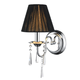 Tetiva Wall Sconce - Chrome / Black
